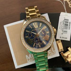 Women's Michael Kors 'Wren' Crystal Watch